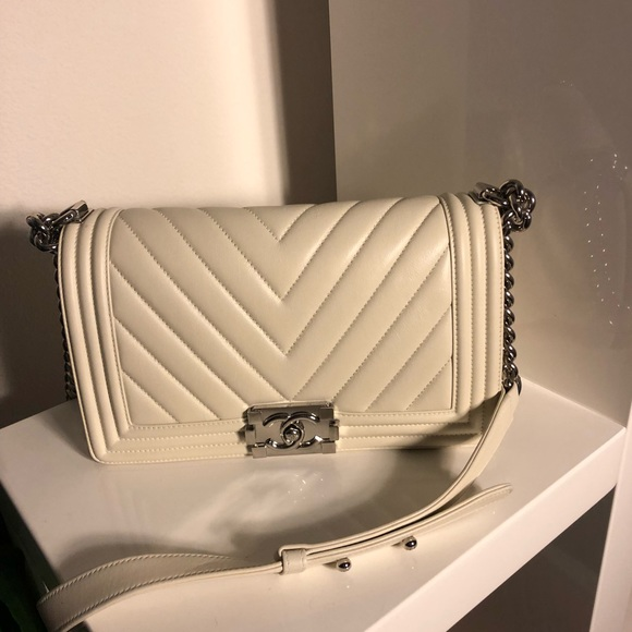 453d310d51c2 CHANEL Bags | Sold Auth Lambskin Chevron Medium Le Boy | Poshmark